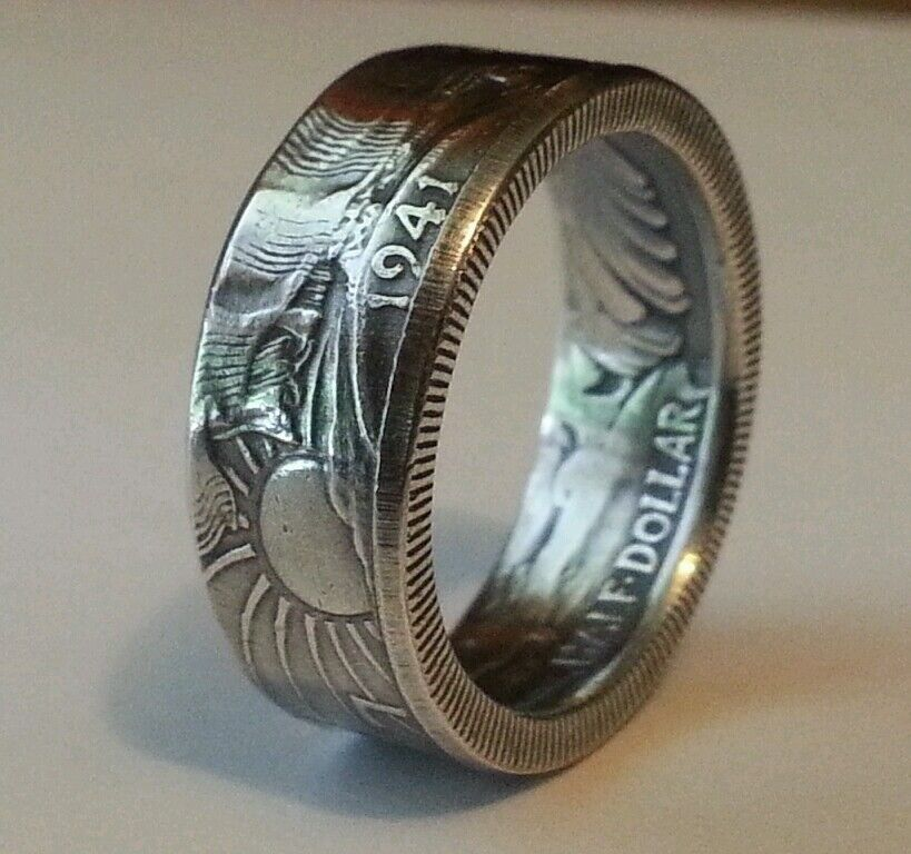 Coin rings made from Silver Walking Liberty Half Dollars ...