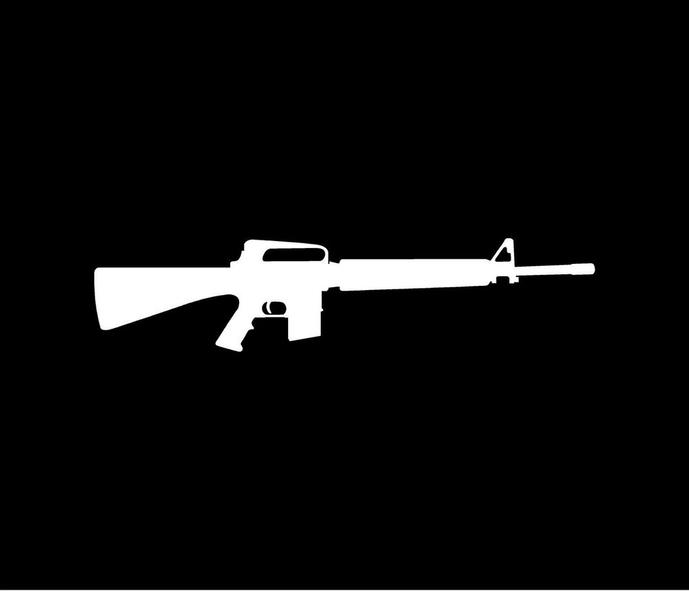 M16 rifle vinyl decal car window bumper sticker ar15 ebay for 15 window