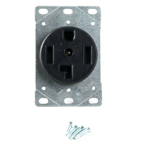 new cooper wiring devices 1257 sp 30amp 125  250v dryer wiring a dryer plug how do you wire a dryer receptacle