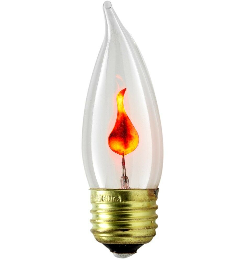 3pc flickering flame standard light bulbs 3w realistic candle flicker e26 size ebay Light bulb lamps