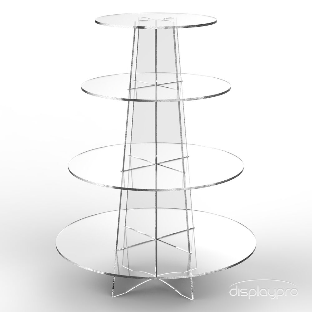 4 tier wedding cake stand uk 4 tier cup cake stand wedding birthday acrylic 10414