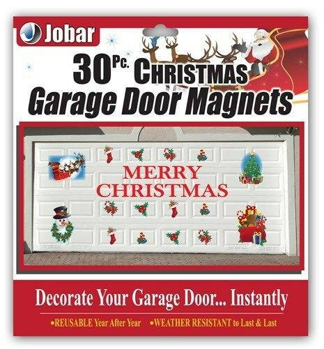 30pc Christmas Garage Door Magnets Decal Set Decorations