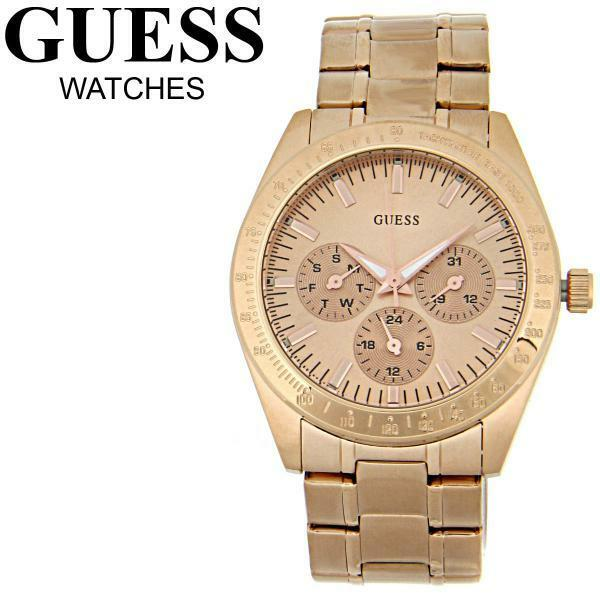 NEW GUESS ROSE GOLD BRACELET FEMININE DRESS LADY WATCH DAY ...