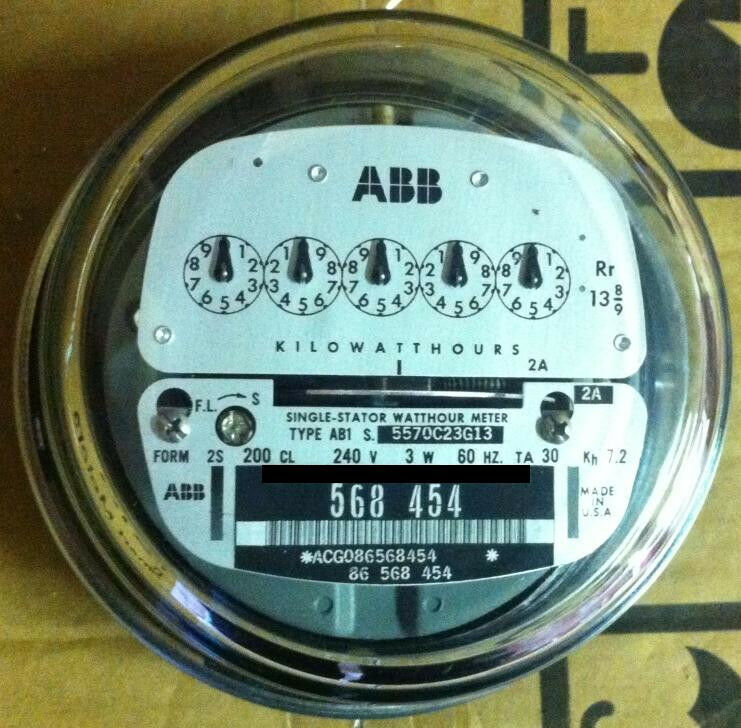 Watthour Meter Tester : Abb watthour meter kwh ab pointer style lugs