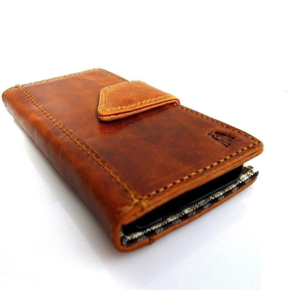 Old Leather Book Iphone Cover : Genuine vintage leather case for iphone s cover book