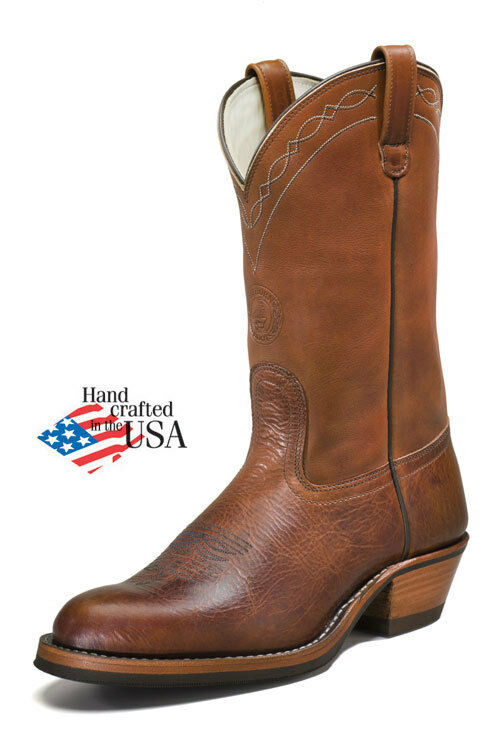 white s boots rancher genuine brown bison leather hathorn