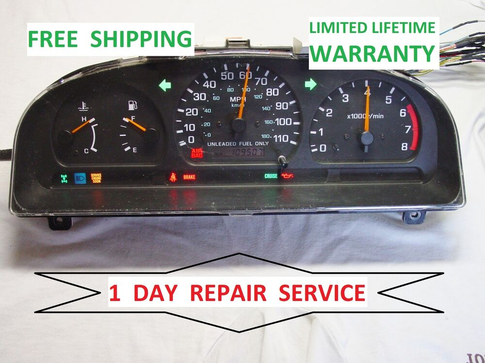 s l1000 repair service nissan frontier 1998 1999 2000 speedometer 1998 Nissan Frontier Fuse Diagram at eliteediting.co