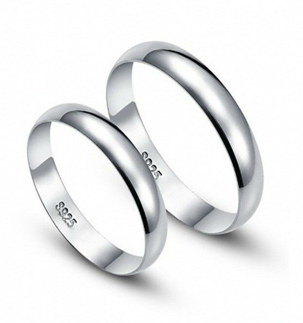Hot Fashion Plain Jewelry Men Women 925 Sterling Silver
