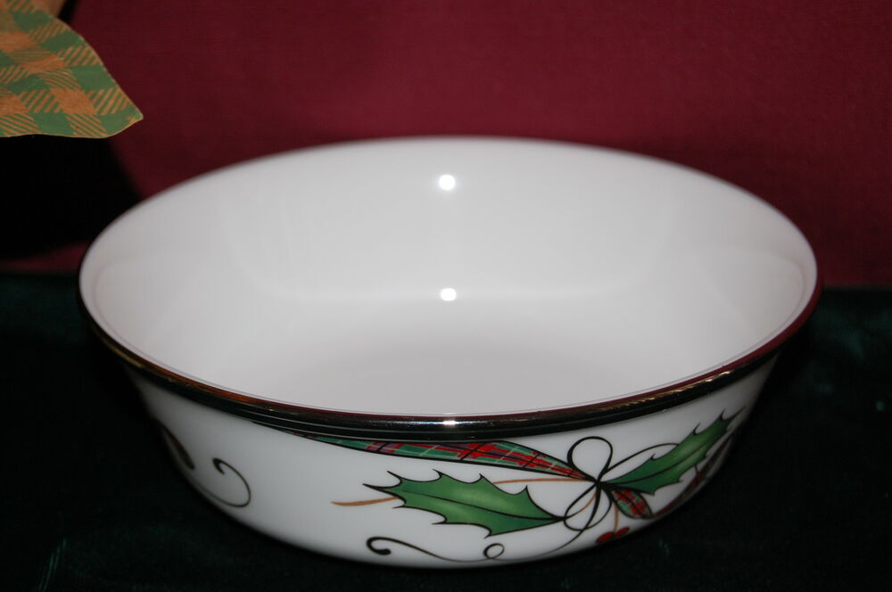 Lenox holiday nouveau white all purpose bowl new usa ebay