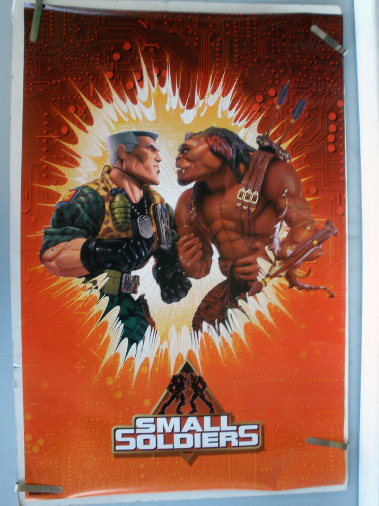 RARE SMALL SOLDIERS 1998 VINTAGE ORIGINAL MOVIE PIN UP ...