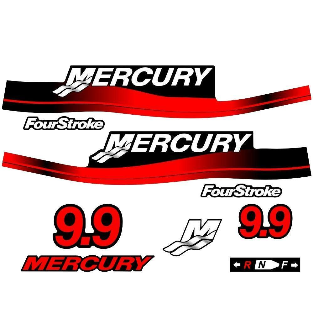 Mercury outboard decal set 9 9hp ebay for Custom outboard motor decals