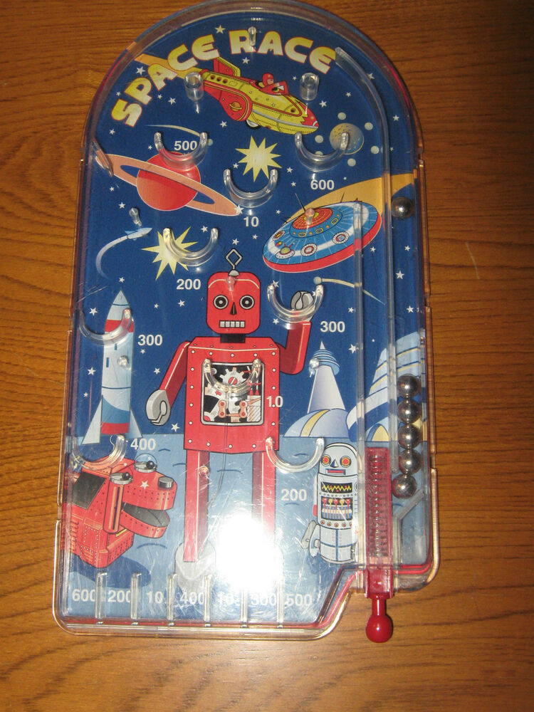 Best Spaceship Rockets Toys For Kids : Schylling toys space race ball pinball robot rocket ship
