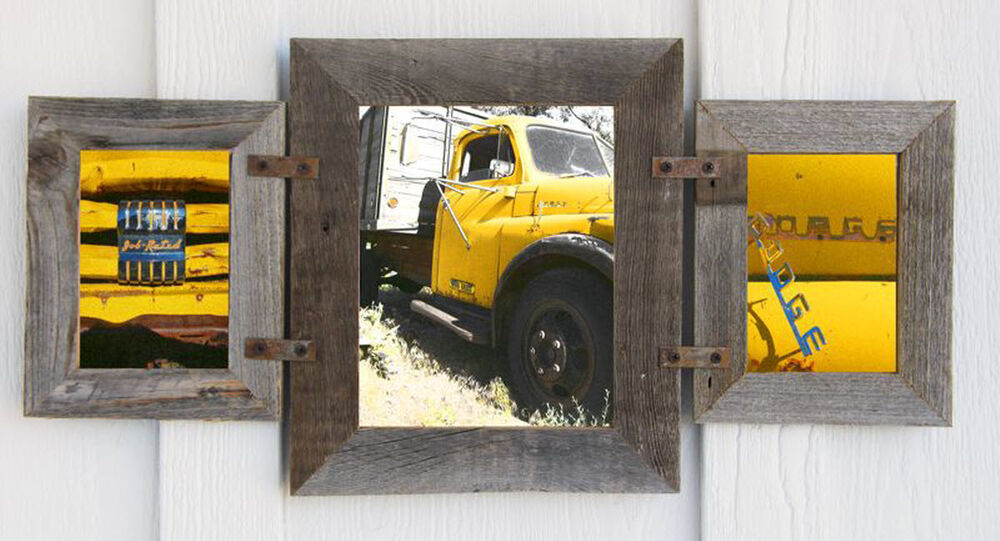 1 8x10 Amp 2 5x7 Collage Rustic Reclaimed Barn Wood