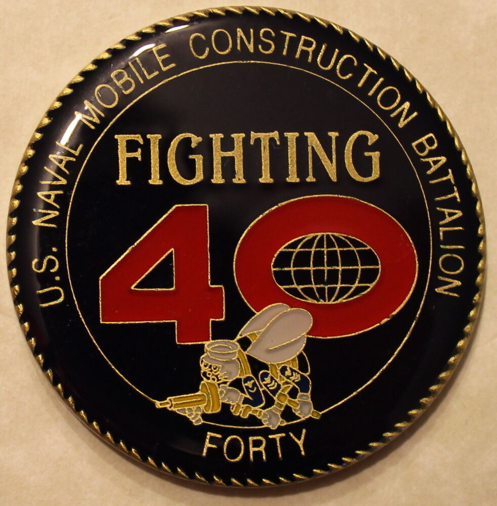 40th Mobile Construction Battalion Mcb Seabees Can Do Navy