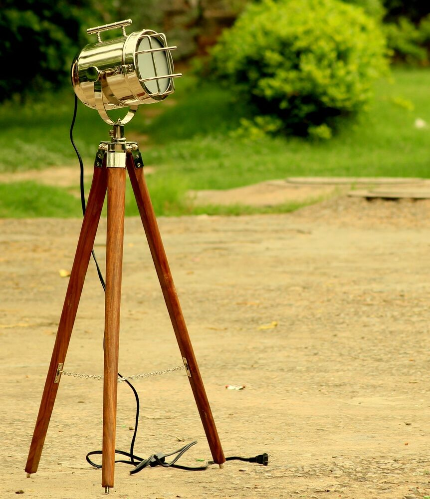 nautical floor lamp with tripod led studio light vintage stand home