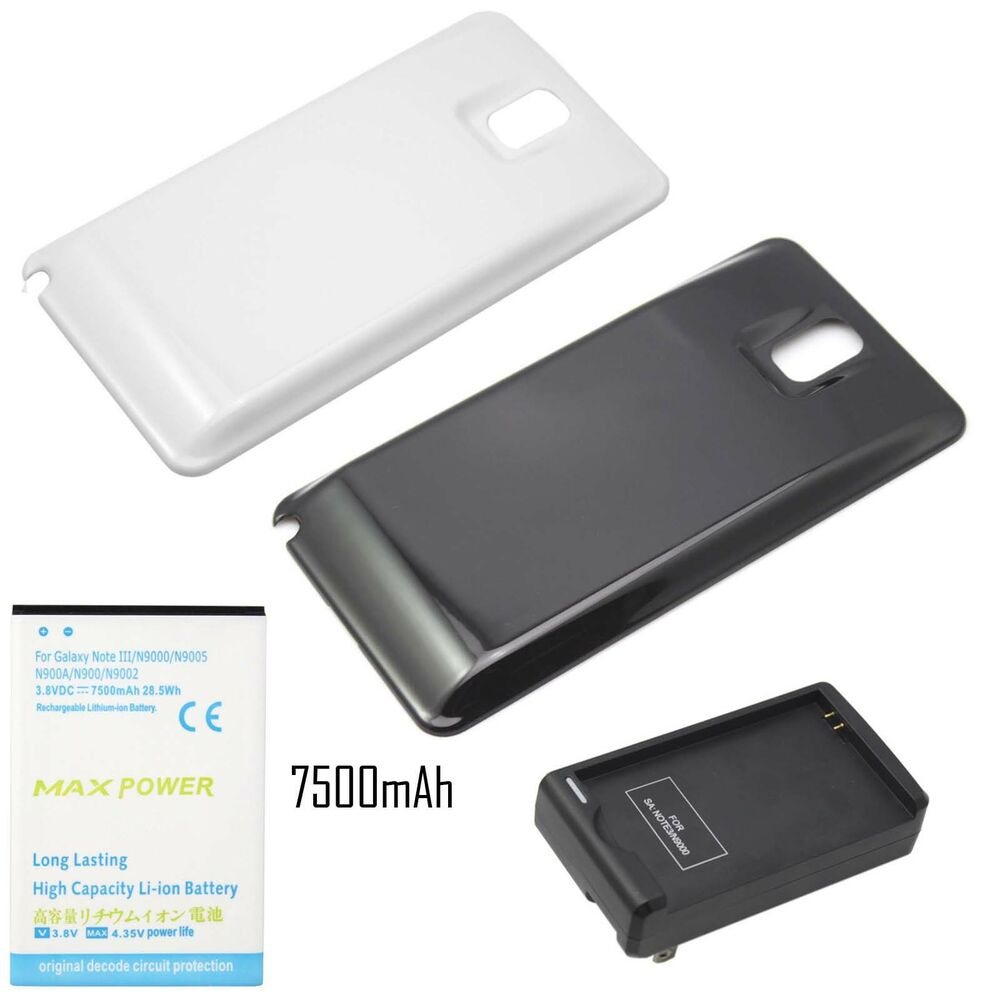 7500mah extended battery cover for samsung galaxy note 3 iii n9000 charger ebay. Black Bedroom Furniture Sets. Home Design Ideas