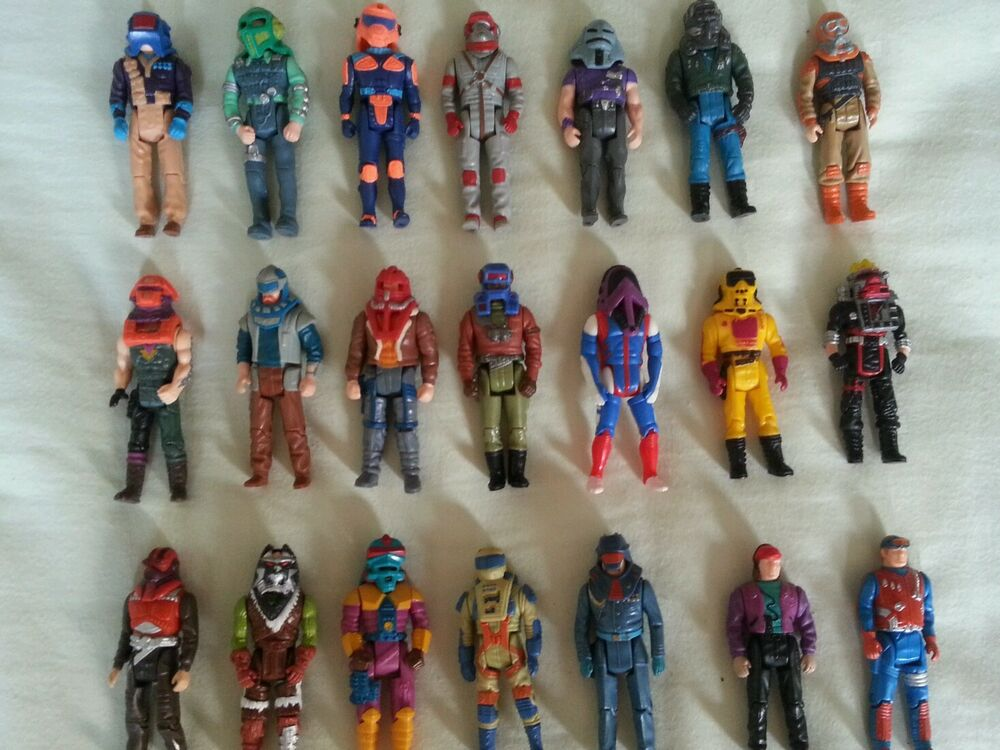 80s Toys Action Figures : M a s k action figures lot mask with helmets kenner