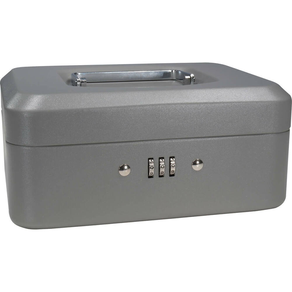 barska 8 inch small safe steel cash box w combination lock in grey cb11784 ebay. Black Bedroom Furniture Sets. Home Design Ideas