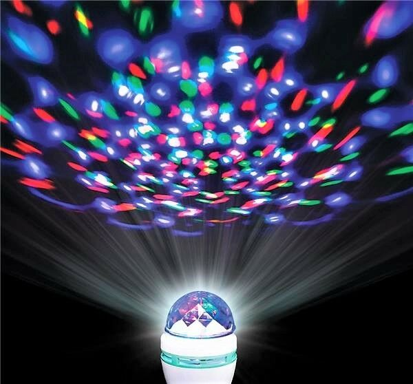 fun colored crystal ball led rotating spinning party light lamp bulb decoration ebay. Black Bedroom Furniture Sets. Home Design Ideas