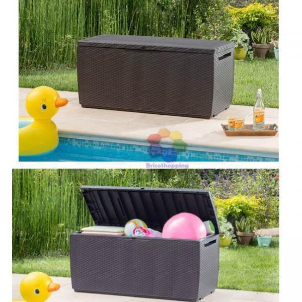 rattan garden storage box anthracite or brown waterproof ebay