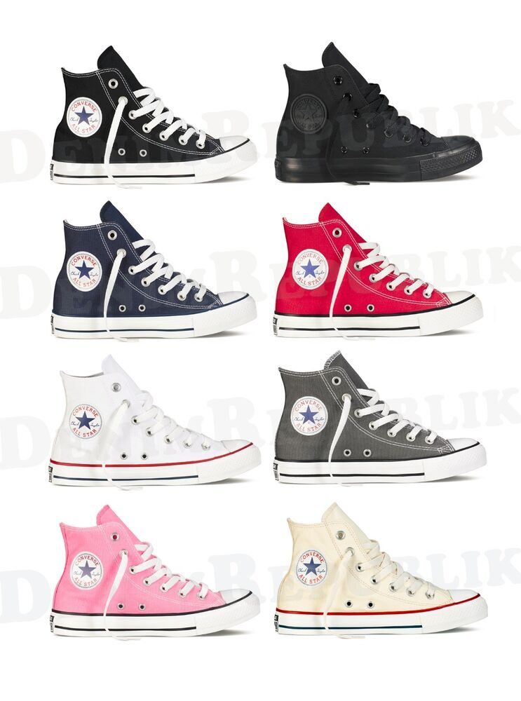 11a88a78610 CONVERSE ALL STAR Chuck Taylor Hi High Top Shoes Unisex Canvas Sneakers