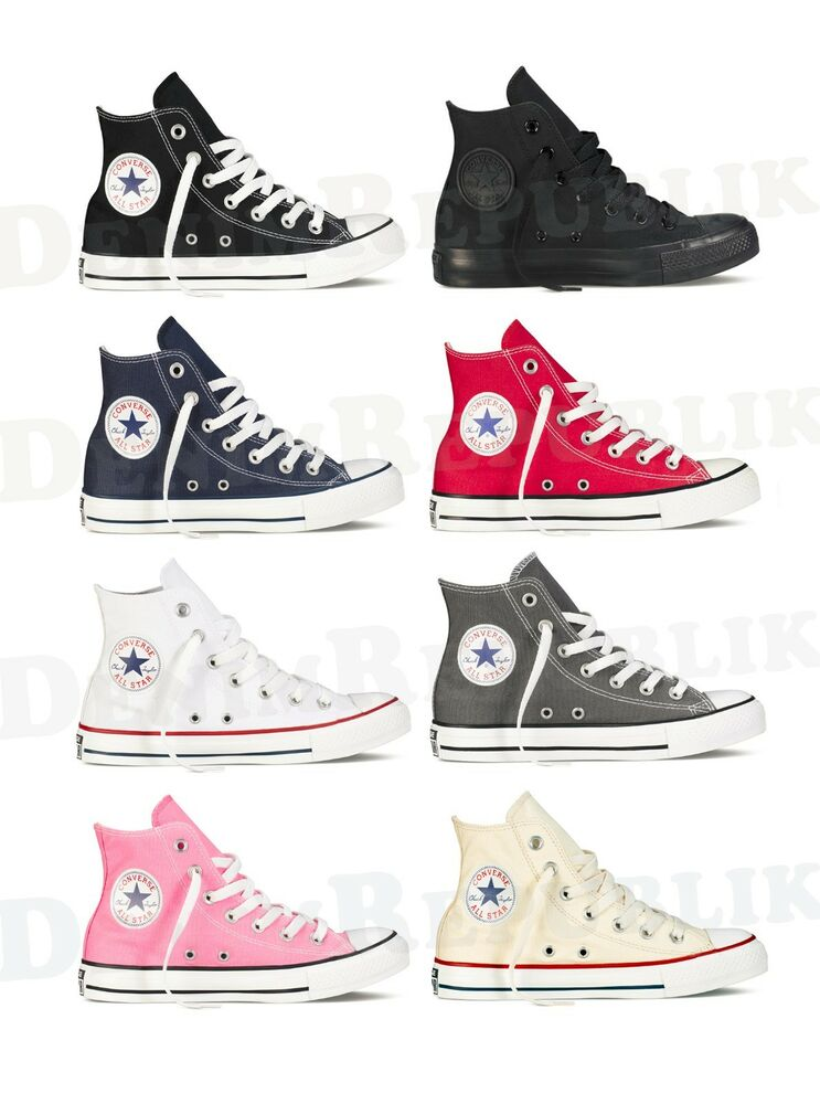 converse all star chuck taylor hi high top shoes unisex canvas sneakers ebay. Black Bedroom Furniture Sets. Home Design Ideas