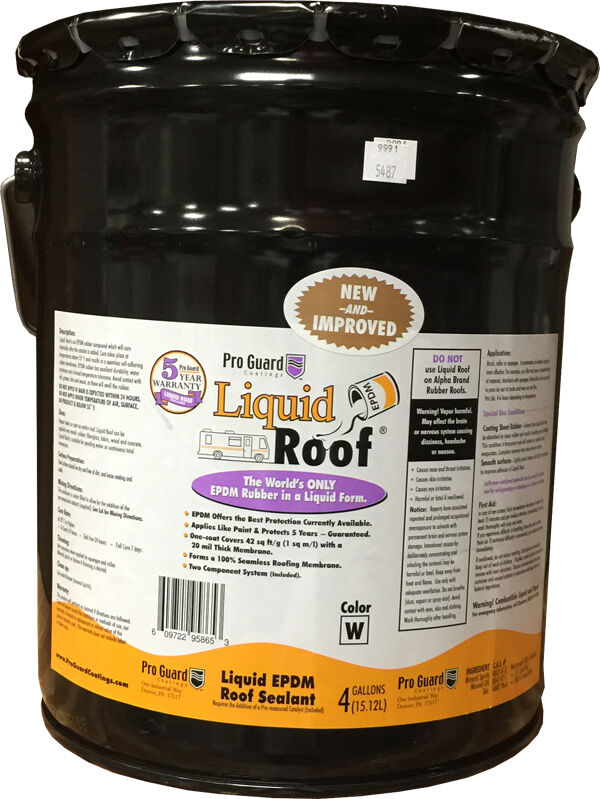 Liquid Roof EPDM RV roof coating - 4 Gallon -for roof ...