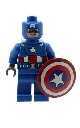 Custom minifigure captain america shield superheroes printed on lego parts ebay - Lego capitaine america ...