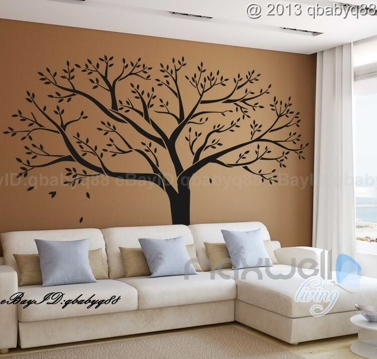 Giant family tree wall sticker vinyl art home decals room decor mural branch - Decoration mural en metal ...