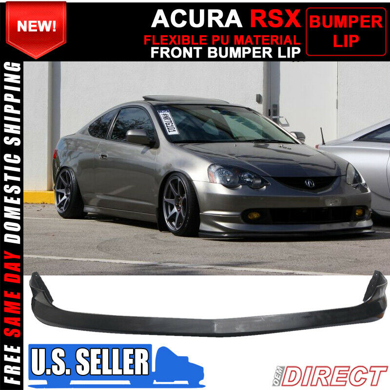 02 04 acura rsx dc5 as urethane front bumper lip spoiler. Black Bedroom Furniture Sets. Home Design Ideas