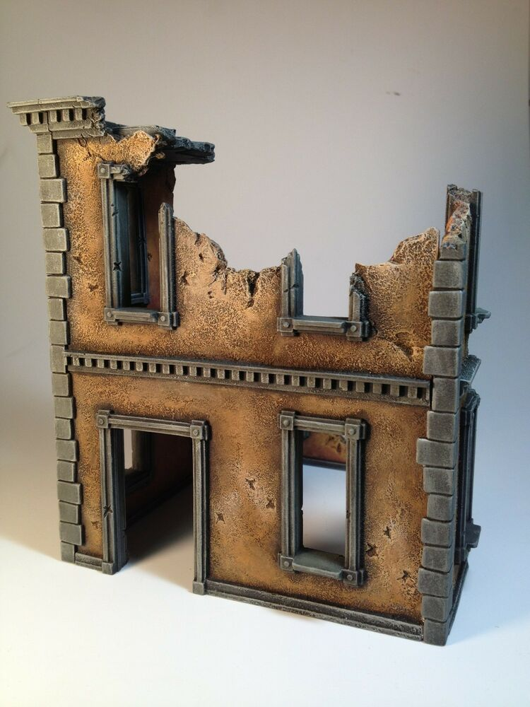 28mm Large Urban Building Ruin Resin 40k Dust Malifaux