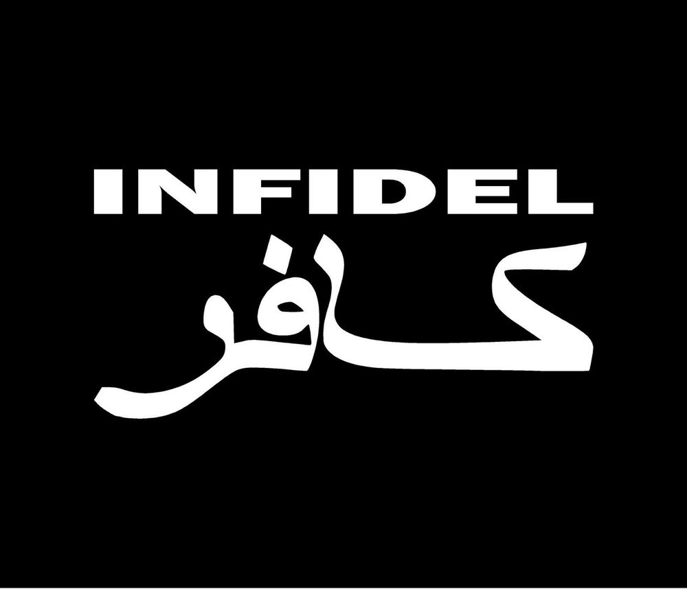 Infidel Vinyl Decal Car Window Bumper Sticker Ebay