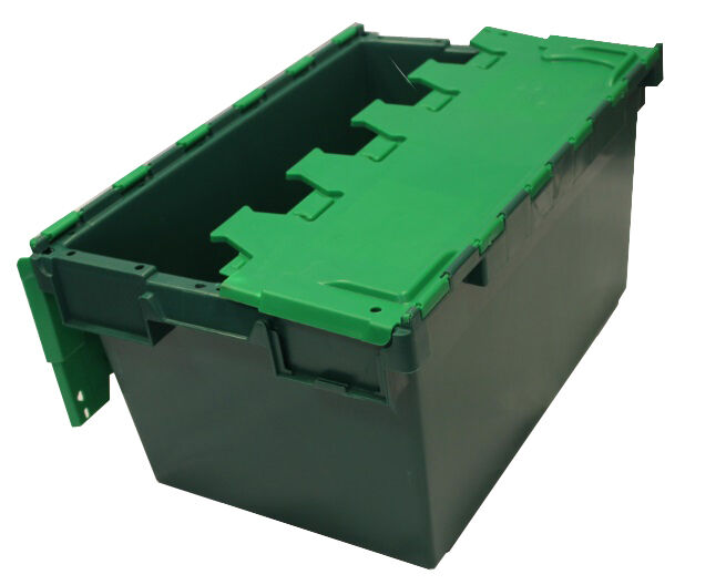 1 LARGE GREEN New Plastic Storage Crates Box Container 80L
