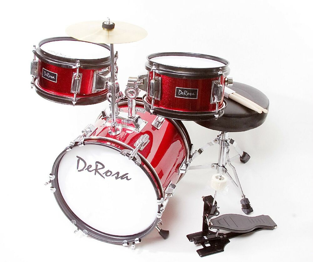 3pc Red 12 Quot Starter Drum Set Great Gift 4 Kids Learn To