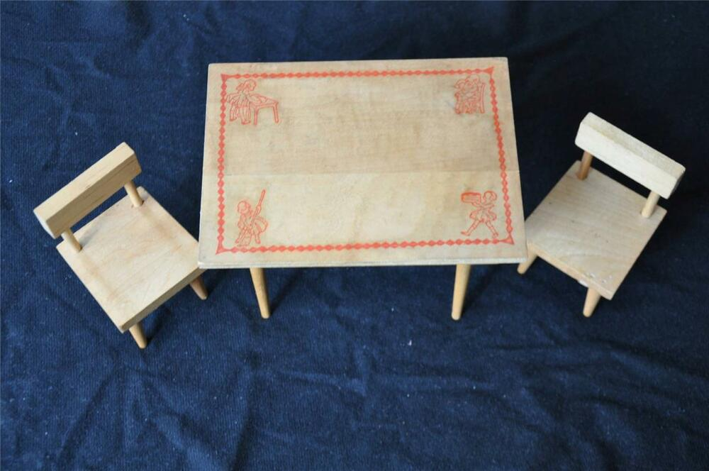 Vintage Cape Cod Toymakers Doll Table Amp 2 Chair Set W