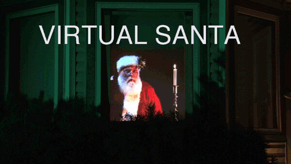 Virtual Reality Santa In The Window Dvd Projection Video