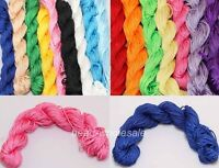 27m Nylon Chinese Knot Rattail Thread Cords Making Charm Beading Jewelry 1mm