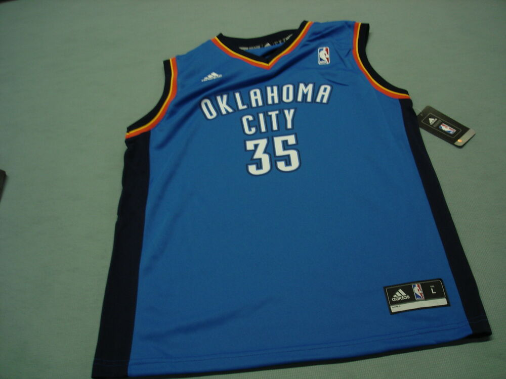 cd81eaf8b Adidas KEVIN DURANT OKC THUNDER JERSEY Youth large NEW