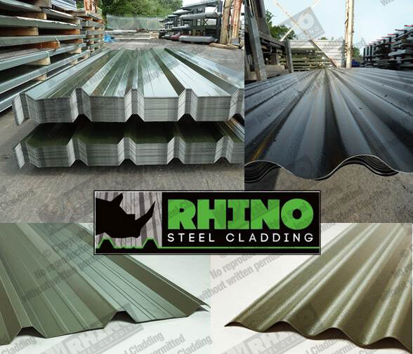 SHED ROOFING SHEETS, STEEL/METAL/TIN BOX PROFILE