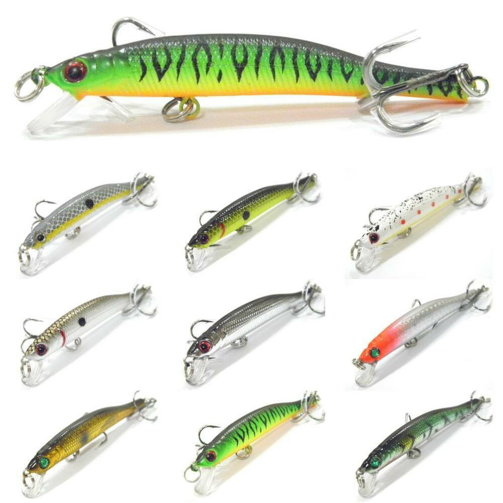3 1 4 inch 1 8 oz minnow fishing lures tight wobble slow for Bait for fishing