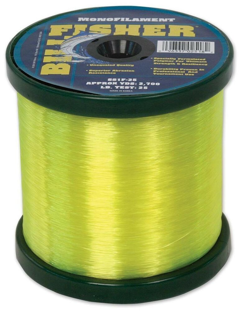 billfisher fishing line monofilament hi vis mono 50lb test