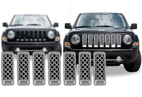 2011 2016 Jeep Patriot Chrome Grille Grill Mesh Insert