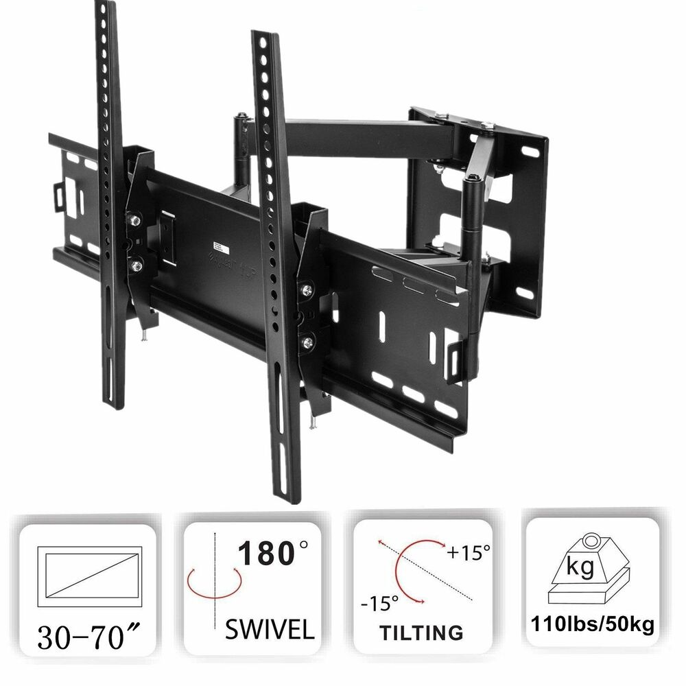 full motion plasma lcd led tv wall mount 26 32 37 40 42 46 47 50 52 55 60 65 70 ebay. Black Bedroom Furniture Sets. Home Design Ideas