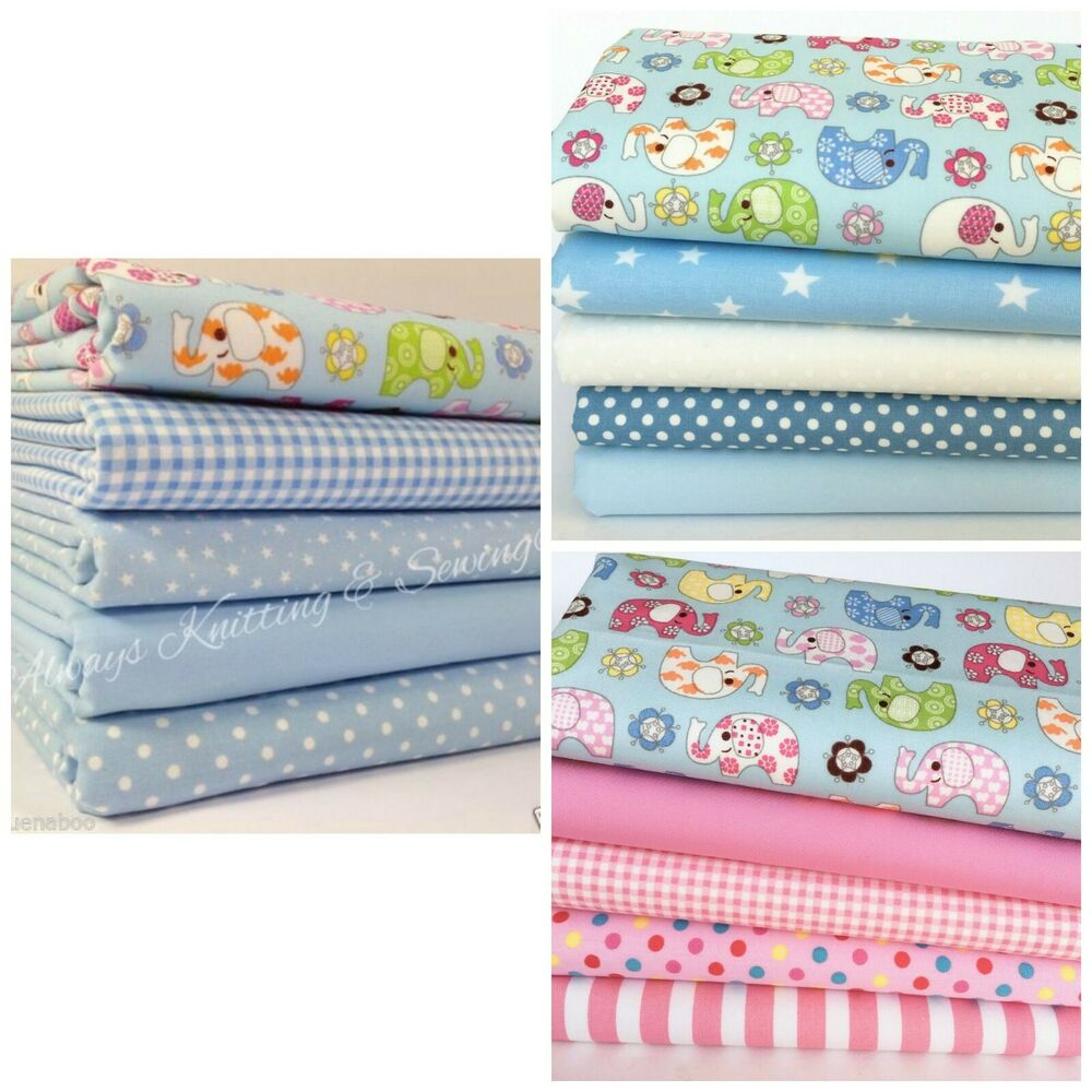 Nellie elephant childrens nursery fat quarter bundles 100 for Nursery fabric