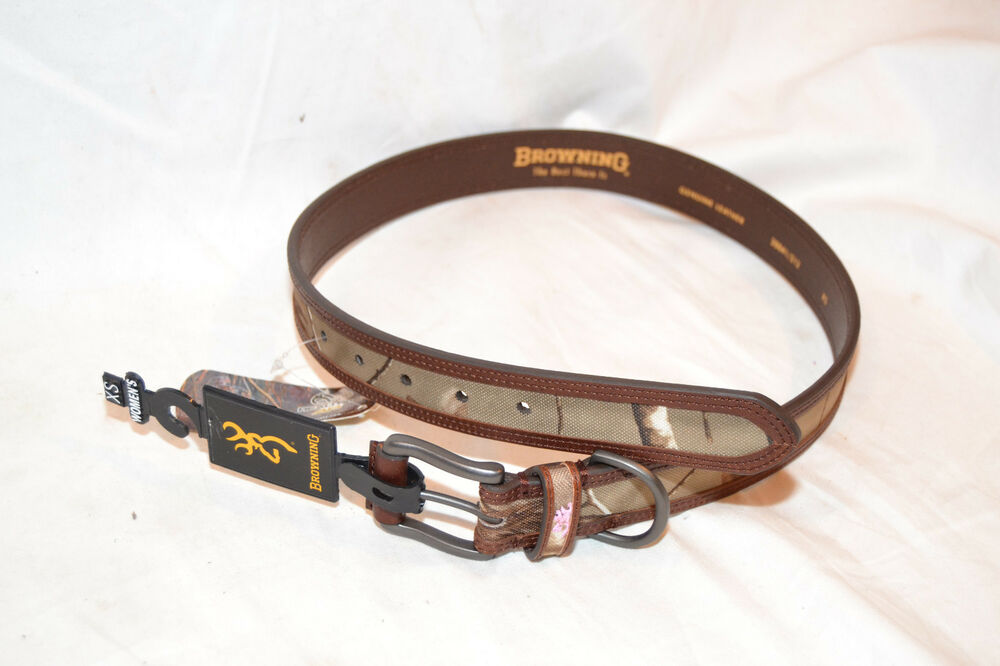 browning womens belt brown leather realtree camo choose