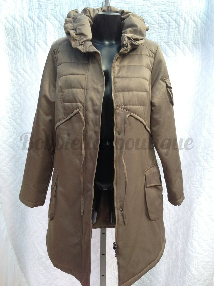 Womens Winter Quilted Coat Knee Length 3 4 Length Size 10