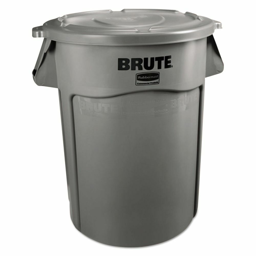 rubbermaid brute multipurpose 55 gallon trash can rcp265500gy ebay. Black Bedroom Furniture Sets. Home Design Ideas