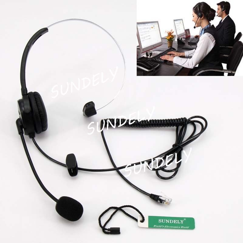 K10 Monaural Headset For Call Center Home Office Phone