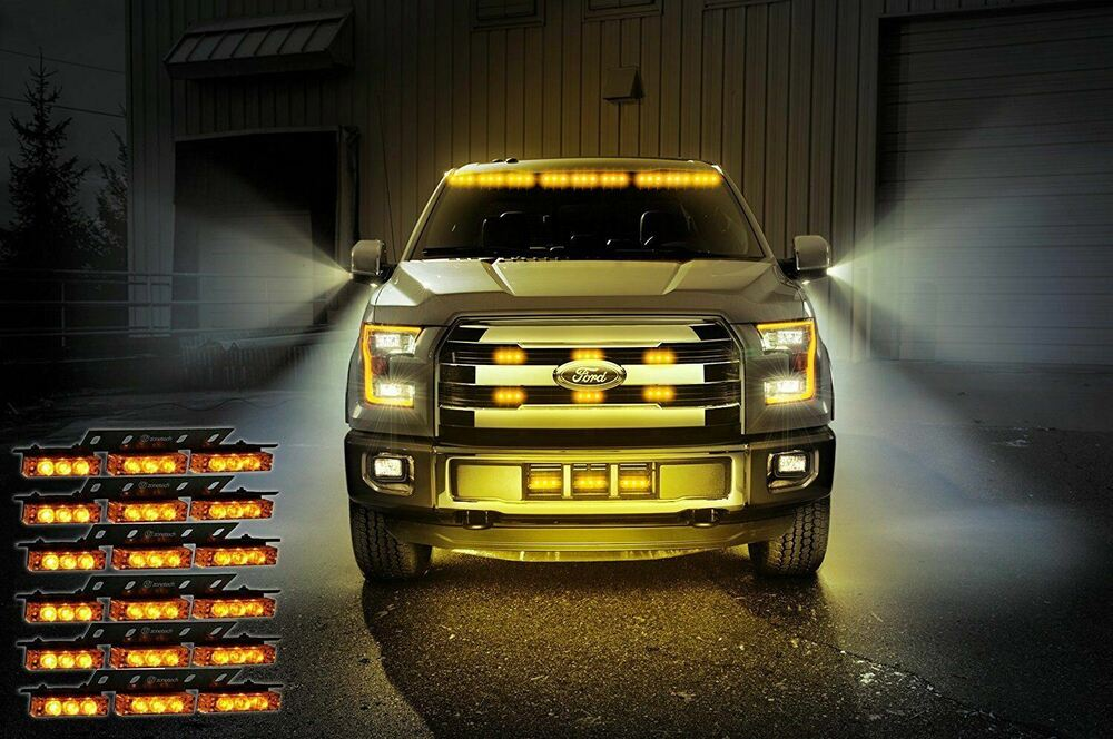 Zone Tech 54 Led Amber Emergency Warning Strobe Lights