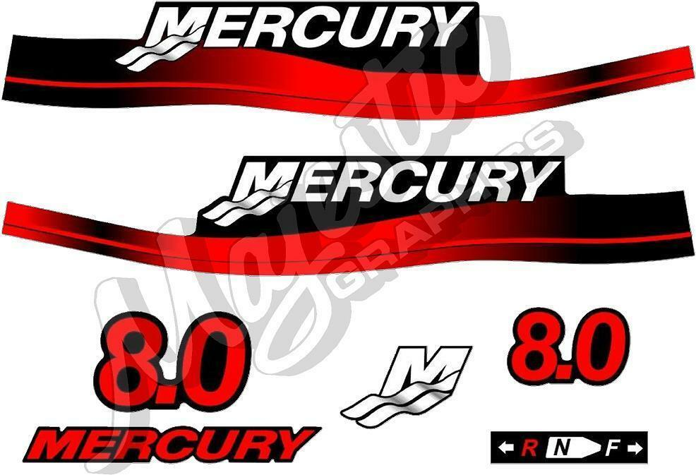 Mercury 8hp Decal Kit Outboard Decals Ebay